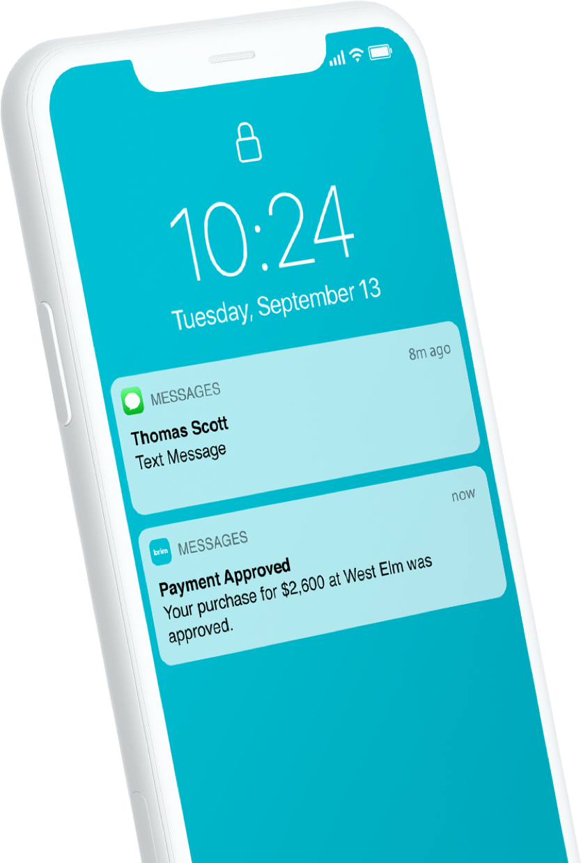 Brim purchase notification